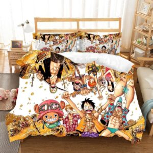 One Piece Straw Hat Pirates Gold Treasure Bedding Set
