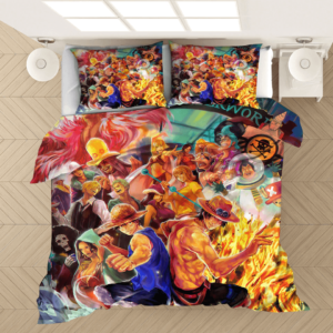 One Piece Waterworld Straw Hat Pirates Vibrant Bedding Set