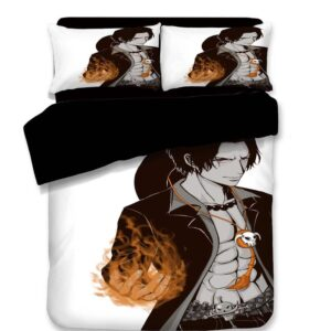 One Piece Whitebeard Fire Fist Portgas D. Ace Bedding Set