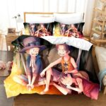 One Piece Young Sabo Ace And Luffy Camp Fire Bedding Set