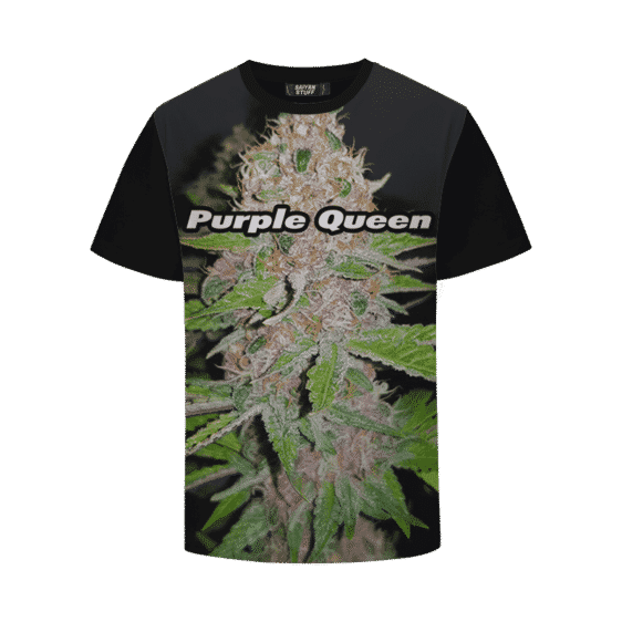 Purple Queen Strain Cool Real Strain Close Up Portrait T-Shirt