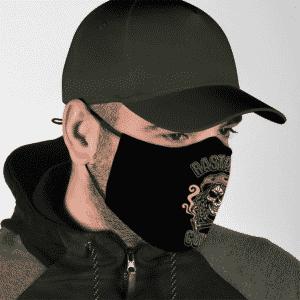Rastafari Marijuana Skull Reggae Culture Pipe Smoke Weed Face Mask