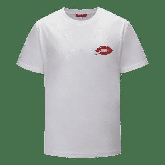 Red Lips Rolling & Smoking a Marijuana Joint 420 T-shirt