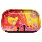 Rick & Morty Multi-Universe Psychedelic Trip Cannabis Rolling Tray