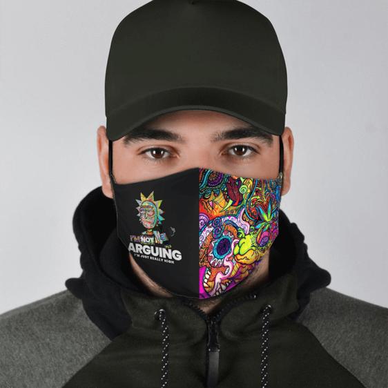 Rick Sanchez Just Really High Trippy 420 Marijuana Face Mask