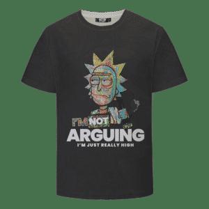 Rick Sanchez Smoking Weed Out of a Bong 420 Marijuana T-shirt