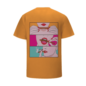 Roll It Lick It Puff It Sexy Weed Illustration Yellow T-Shirt
