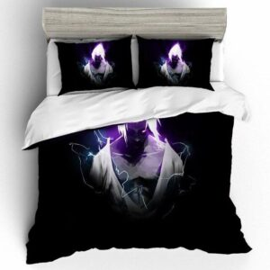 Sasuke Uchiha Vibrant Purple Aura Fan Art Bedding Set