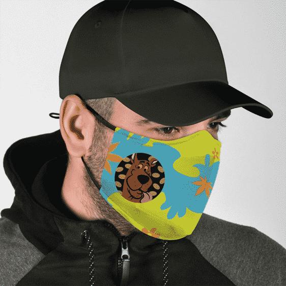 Scooby High on Doobie Snacks Mystery Machine Pattern Marijuana Face Mask
