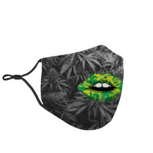 Sexy Cannabis Lips Like Sugar Marijuana Face Mask