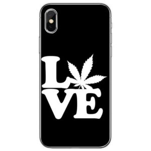 Silhouette Love Weed Black iPhone 11 (Pro & Pro Max) Case