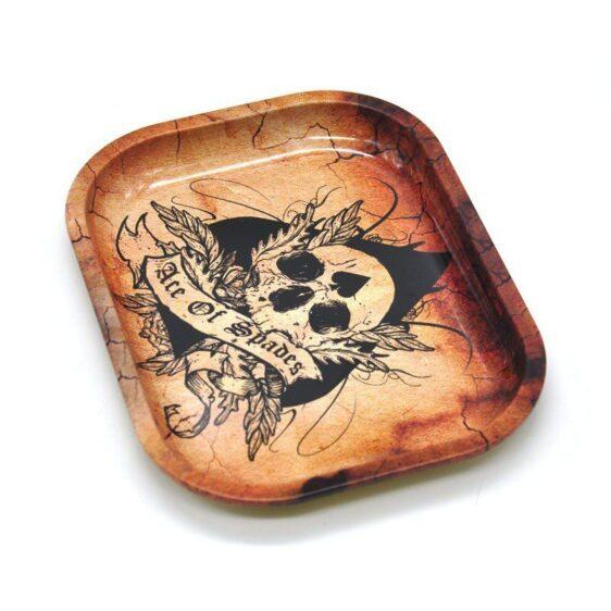 Skull Cannabis Ace Of Spades Marijuana Rolling Tray