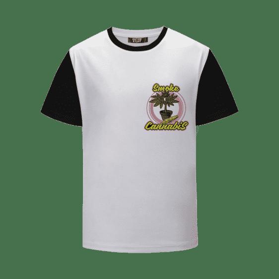 Smoke Cannabis Marijuana Plant Pot & Joint Weed T-Shirt