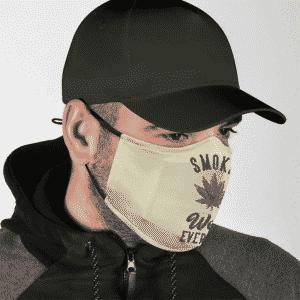 Smoke Weed Everyday Logo Minimalist Cool Awesome Face Mask