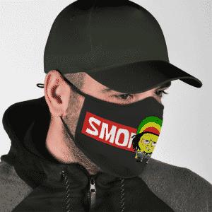 Smoke Weed Reggae Stoner Sponge Bob Marijuana Face Mask