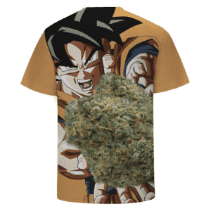 Son Goku Charging Up Kamehameha Kush 420 Marijuana T-shirt