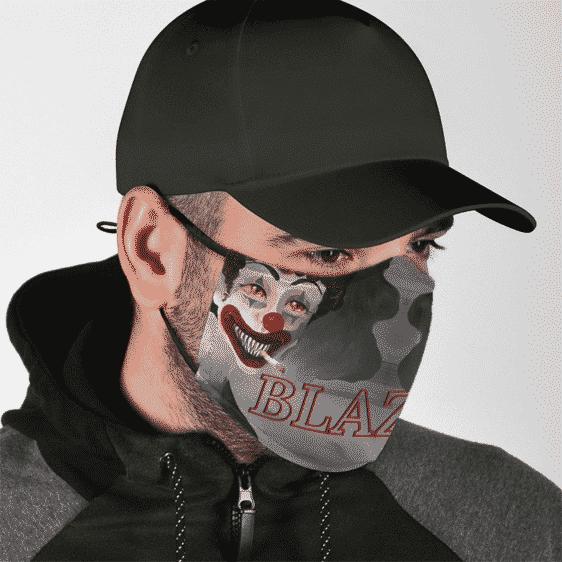 Stoned Smoking Clown Blazed 420 Weed Marijuana Cool Face Mask