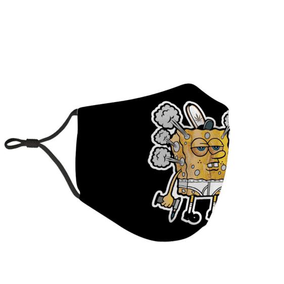 Stoner Sponge Bob High Marijuana Sticker Dope Face Mask
