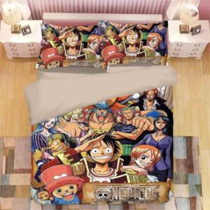 Straw Hat Thousand Sunny Pirate Ship Ace & Shanks Bed Set