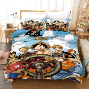 Straw Hats Chaotic Pirate Ship Helm Navigation Bedding Set