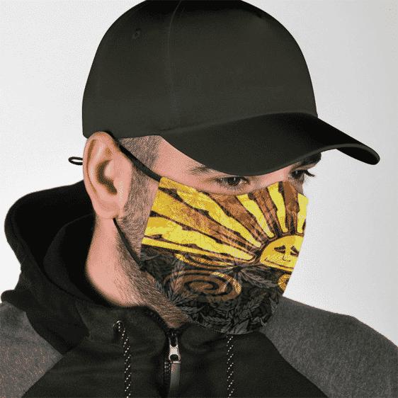 Sunny Marijuana Colorful Artistic Dope Weed Ganja Face Mask