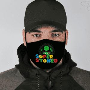 Super Stoned Mushroom Weed Marijuana Mario Cool Face Mask