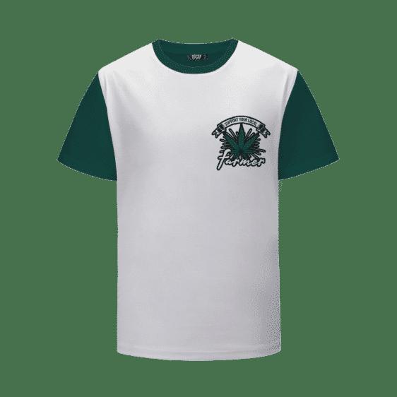 Support Your Local Cannabis Farmer Logo White T-Shirt