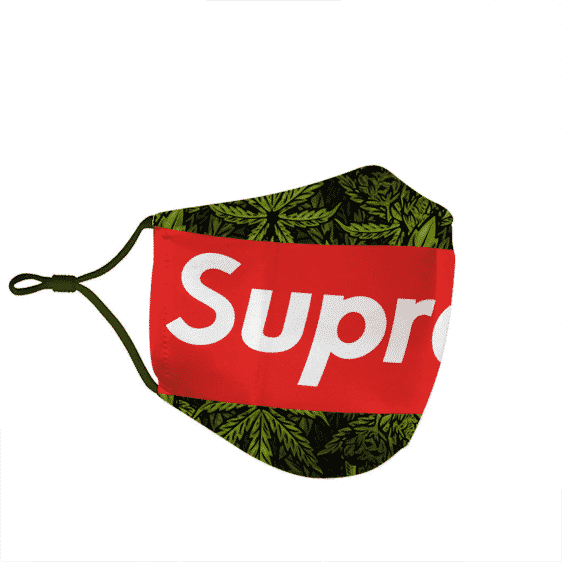 Supreme Marijuana Simple Dope Awesome Green Weed Face Mask