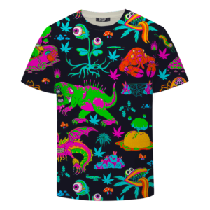 The Adventures of Rick and Morty Monsters Trippy Weed T-Shirt