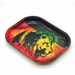 The King Lion Rasta Colors Marijuana Rolling Tray