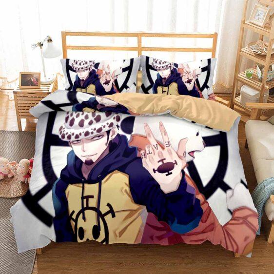 Trafalgar Law & Pandaman Heart Pirates Symbol Bedding Set