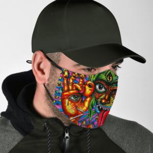 Trippy Acid Marijuana Colorful Dope Face Mask