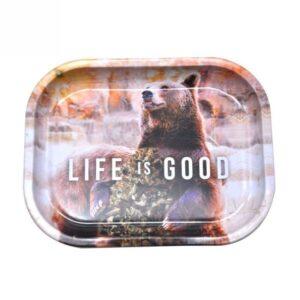 Trippy Bear Life is Good Holding Kush Marijuana Rolling Tray