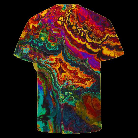 Trippy Psychedelic Morty Weed Art Marijuana 420 T-shirt