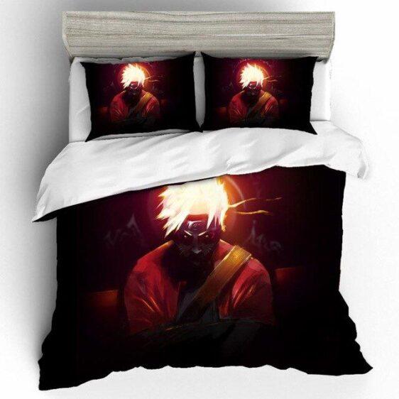 Uzumaki Naruto Frog Master Sage Mode Black Bedding Set