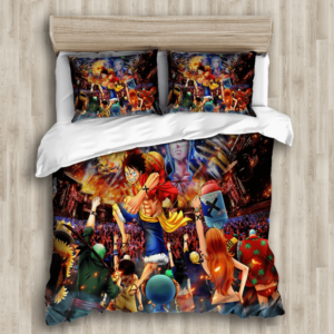 Vibrant One Piece Straw Hat Pirates Battle Bedding Set