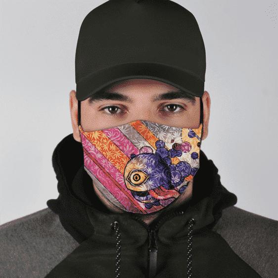 Weed Ganja Cyclops Colorful Marijuana Breezy Face Mask