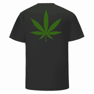 Weed THC Healthcare Dope Vector Marijuana Black T-shirt