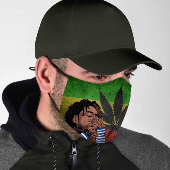 Whiz Khalifa Lights A Spliff Stoners Inspired Cannabis Face Mask