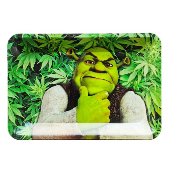 Who Got You High Shrek Cannabis Herb Rolling Tray