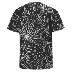 420 Blaze It One Love Marijuana Black And White Dope T-shirt