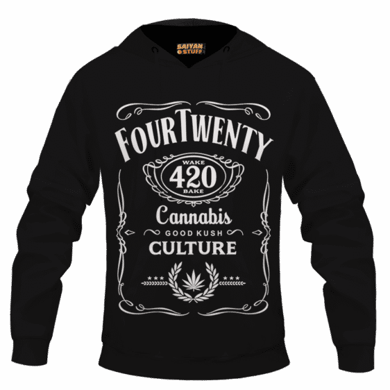 420 Wake And Bake Cannabis Kush Dope Cool Black Hoodie