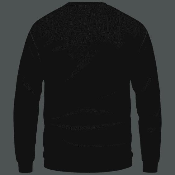 420 Wake And Bake Cannabis Kush Dope Cool Black Sweatshirt - Back Mockup