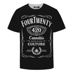 420 Wake And Bake Cannabis Kush Dope Cool Black T-shirt