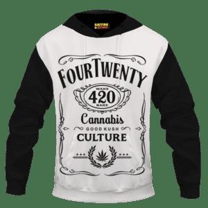 420 Wake And Bake Cannabis Kush Dope Cool White Hoodie