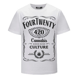 420 Wake And Bake Cannabis Kush Dope Cool White T-shirt