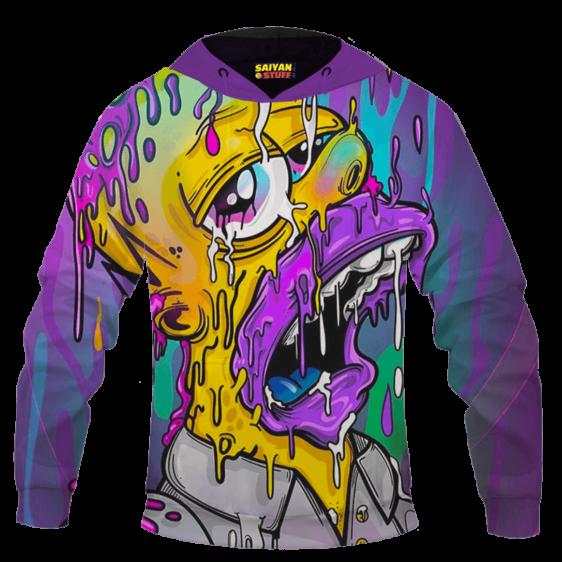 Acid LSD Homer Simpson Stoned Melted Artistic Hoodie