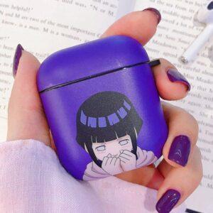 Adorable Kid Genin Hinata Hyuga Shy Purple Airpods Case