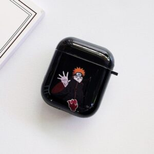 Akatsuki Pain Yahiko Shinra Tensei Black Airpods Case