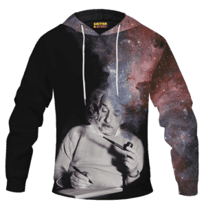 Albert Einstein Smoking Dope Galaxy 420 Marijuana Pullover Hoodie